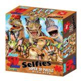 Quebra Cabeca 3D Dino Selfies com 100 pecas - Multikids