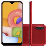 Samsung Galaxy A015 Vermelho, com Tela Infinita de 5.7, 4G, 32GB e Camera Dupla 13MP+2MP -SM-A015VRM
