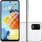 Smartphone LG K62+ Branco 128GB 4G Processador Octa-Core 4GB RAM Tela de 6.59 Camera Quadrupla + Selfie 28MP Android