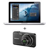MacBook Pro Apple c/ i5, 4GB, 500GB e 13,3' + Câmera Sony WX50 16.2MP, 2.7', Zoom 5x, Fotos Panorâmicas 3D, Full HD e 8GB