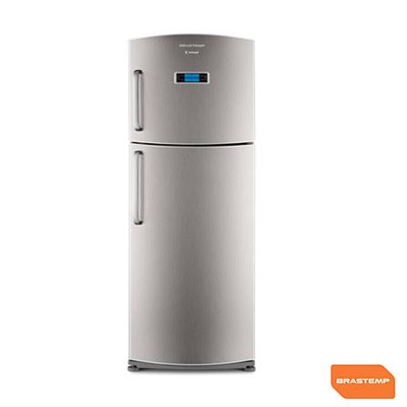 Imagem para Refrigerador Brastemp 2 Portas 432,L Frost Free com Painel Eletrônico Inteligente, Prateleira Gourmand,  Inox - BRX50CR a partir de Fast Shop