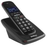 Telefone sem Fio Digital TS63V DECT 6.0 com Identificador de Chamadas, Viva-Voz, Teclado Luminoso, Áudio Otimizado, Pret