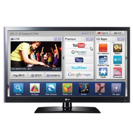 Imagem para LED LCD LV5500 47'' Smart TV, TruMotion 120Hz LG a partir de Fast Shop