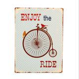 Placa de Metal Decorativa Vintage Enjoy the Ride