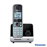 Telefone sem Fio Panasonic DECT 6.0 com Identificador de Chamadas, Viva Voz,  Preto - KXTG6711