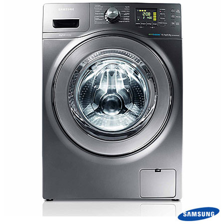 Imagem para Lavadora e Secadora 10,1 Kg Samsung Front Load com Eco Bubble, Air Wash, Diamond Drum, Inox - WD106UHSAGD a partir de Fast Shop